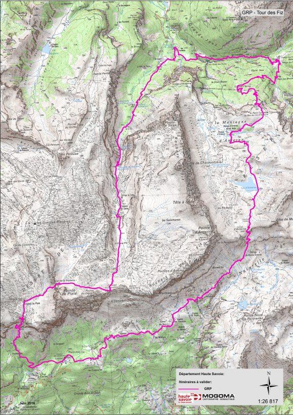 Tour des Fiz.. Refuge de Platé - Plaine Joux (1337m). Etape 4