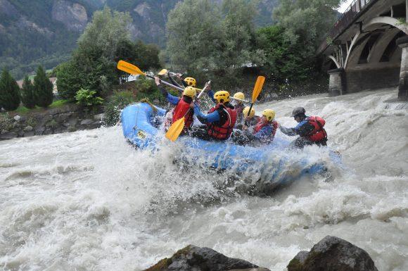 Journée Trappeur: rafting et pique nique au bord de l'arve