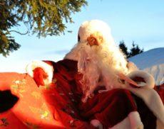 Arrivée du père Noël à Plaine-Joux
