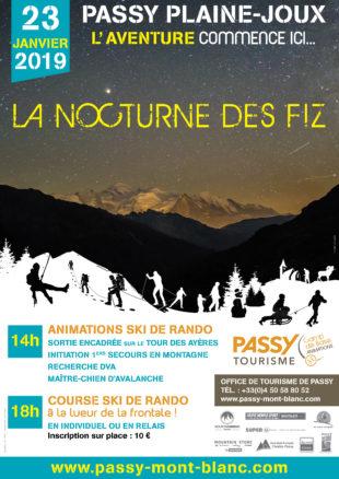 A la une : Nocturne des Fiz - course de ski de rando
