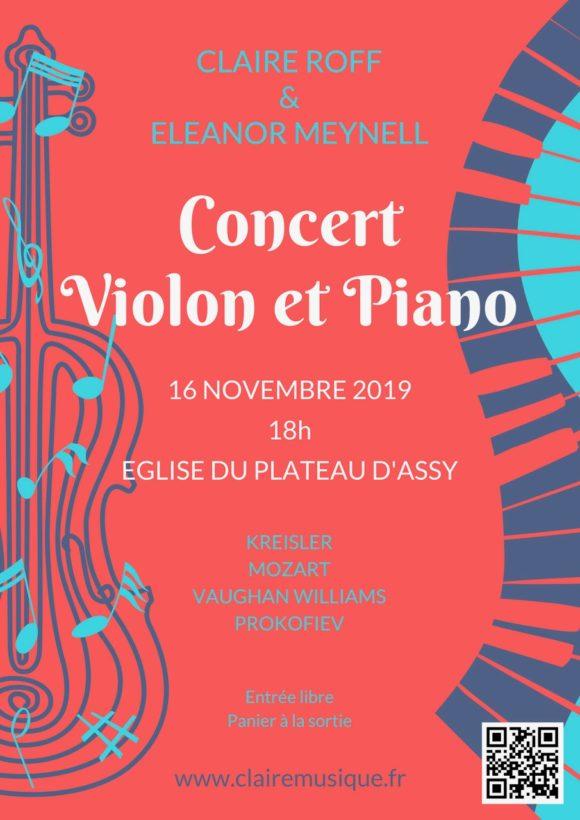 Concert violon et piano
